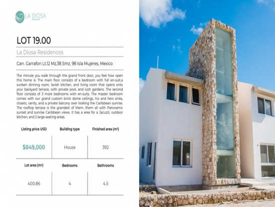 Isla Mujeres, Quintana Roo, Mexico, 4 Bedrooms Bedrooms, ,4 BathroomsBathrooms,House,For Sale,21307